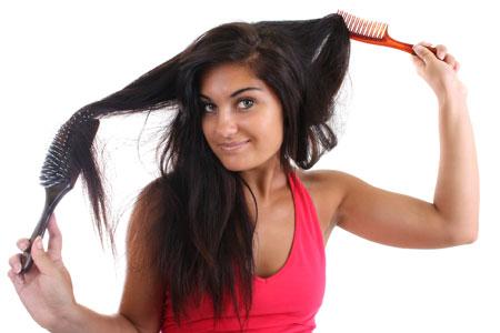 расчесывание волос